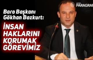 Baro Başkanı Bozkurt: İnsan haklarını korumak...