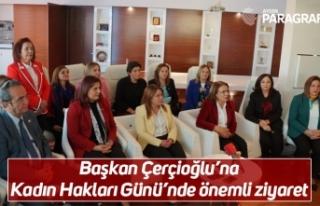 Başkan Çerçioğlu'na Kadın Hakları Günü'nde...