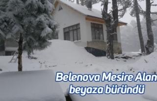 Belenova Mesire Alanı beyaza büründü