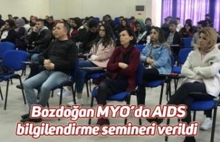 Bozdoğan MYO'da AIDS bilgilendirme semineri verildi