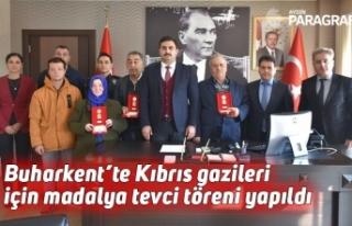 Buharkent'te Kıbrıs gazileri için madalya tevci...