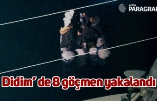 Didim' de 8 göçmen yakalandı