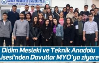 Didim Mesleki ve Teknik Anadolu Lisesi'nden Davutlar...