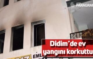Didim'de ev yangını korkuttu