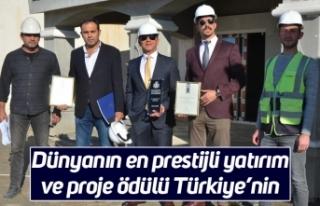 Dünyanın en prestijli yatırım ve proje ödülü...