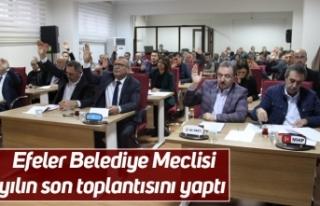 Efeler Belediye Meclisi yılın son toplantısını...