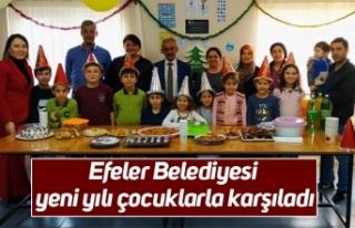 Efeler Belediyesi yeni yılı çocuklarla karşıladı