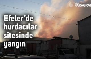 Efeler'de hurdacılar sitesinde yangın