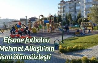 Efsane futbolcu Mehmet Alkışlı'nın ismi ölümsüzleşti