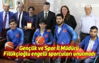 Gençlik ve Spor İl Müdürü Fillikçioğlu engelli...