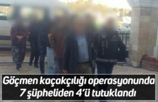 Göçmen kaçakçılığı operasyonunda 7 şüpheliden...