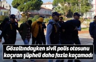 Gözaltındayken sivil polis otosunu kaçıran şüpheli...