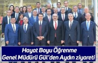 Hayat Boyu Öğrenme Genel Müdürü Gül'den Aydın...