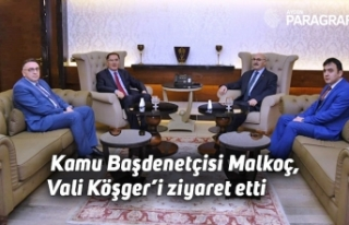 Kamu Başdenetçisi Malkoç, Vali Köşger'i ziyaret...