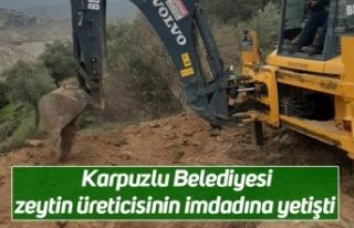 Karpuzlu Belediyesi zeytin üreticisinin imdadına...