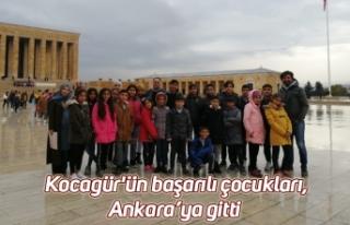 Kocagür'ün başarılı çocukları, Ankara'ya...