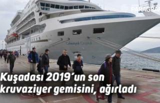 Kuşadası 2019'un son kruvaziyer gemisini, ağırladı