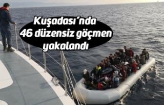Kuşadası'nda 46 düzensiz göçmen yakalandı