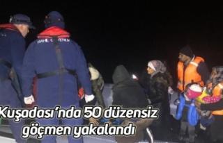 Kuşadası'nda 50 düzensiz göçmen yakalandı