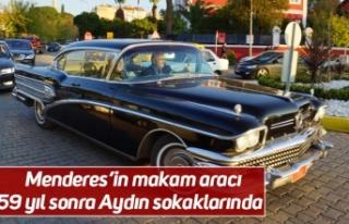 Menderes'in makam aracı 59 yıl sonra Aydın sokaklarında