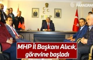 MHP İl Başkanı Alıcık, görevine başladı