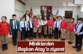 Miniklerden Başkan Atay'a ziyaret