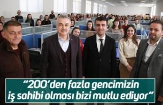 """Mustafa Savaş; """"200'den fazla gencimizin iş..."""