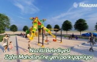 Nazilli Belediyesi Zafer Mahallesi'ne yeni park...