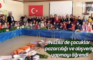 Nazilli'de çocuklar pazarcılığı ve alışveriş...
