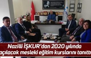 Nazilli İŞKUR'dan 2020 yılında açılacak mesleki...