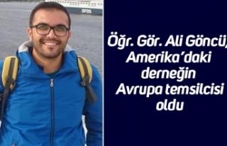 Öğr. Gör. Ali Göncü, Amerika'daki derneğin...