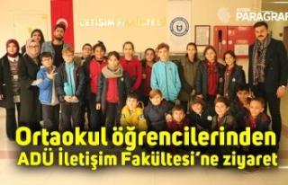 Ortaokul öğrencilerinden ADÜ İletişim Fakültesi'ne...