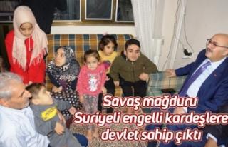Savaş mağduru Suriyeli engelli kardeşlere devlet...