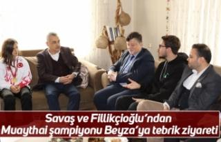 Savaş ve Fillikçioğlu'ndan Muaythai şampiyonu...