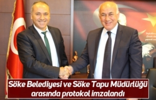 Söke Belediyesi ve Söke Tapu Müdürlüğü arasında...