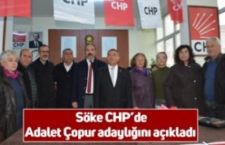 Söke CHP'de Adalet Çopur adaylığını açıkladı