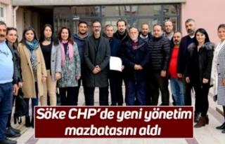 Söke CHP'de yeni yönetim mazbatasını aldı