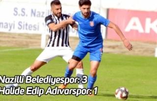 TFF 3. Lig 3. Grup; Nazilli Belediyespor 3- Halide...