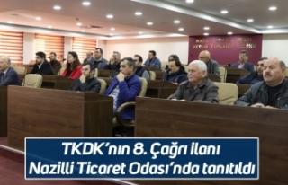 TKDK'nın 8. Çağrı ilanı Nazilli Ticaret Odası'nda...