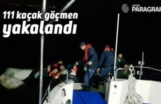 111 kaçak göçmen yakalandı