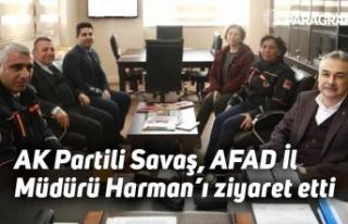 AK Partili Savaş, AFAD İl Müdürü Harman'ı...