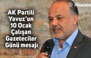 AK Partili Yavuz'un 10 Ocak Çalışan Gazeteciler...