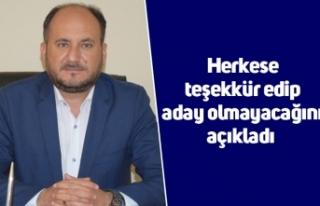 AK Parti İlçe Başkanı Tosun, herkese teşekkür...