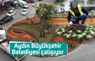 Aydın Büyükşehir Belediyesi çalışıyor