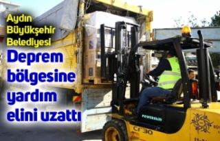 Aydın Büyükşehir Belediyesi deprem bölgesine...