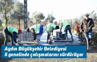 Aydın Büyükşehir Belediyesi il genelinde çalışmalarını...