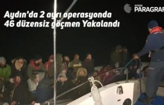 Aydın'da 2 ayrı operasyonda 46 düzensiz göçmen...
