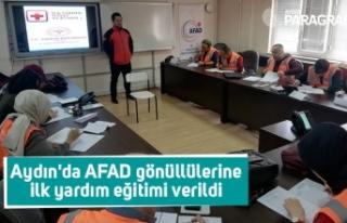 Aydın'da AFAD gönüllülerine ilk yardım eğitimi...