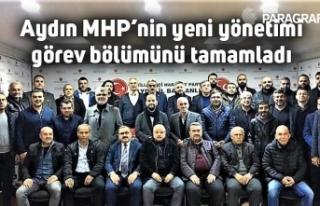 Aydın MHP'nin yeni yönetimi görev bölümünü...