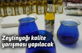 Aydın Tarım Fuarında zeytinyağı kalite yarışması...